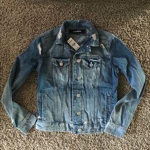 Express distressed jean jacket, NWT